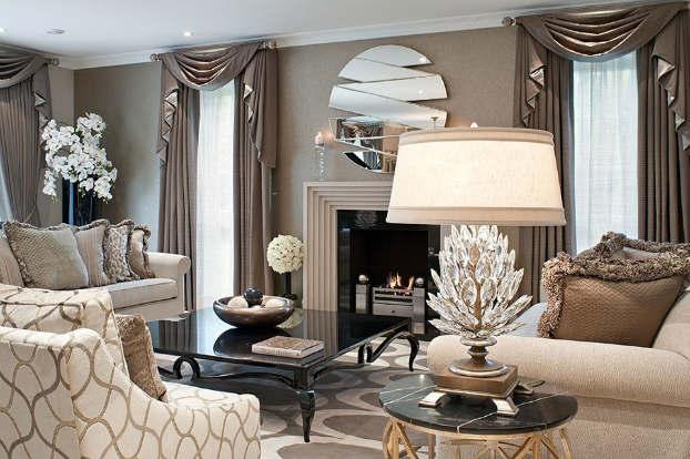 Klasszikus lakberendezésű nappali